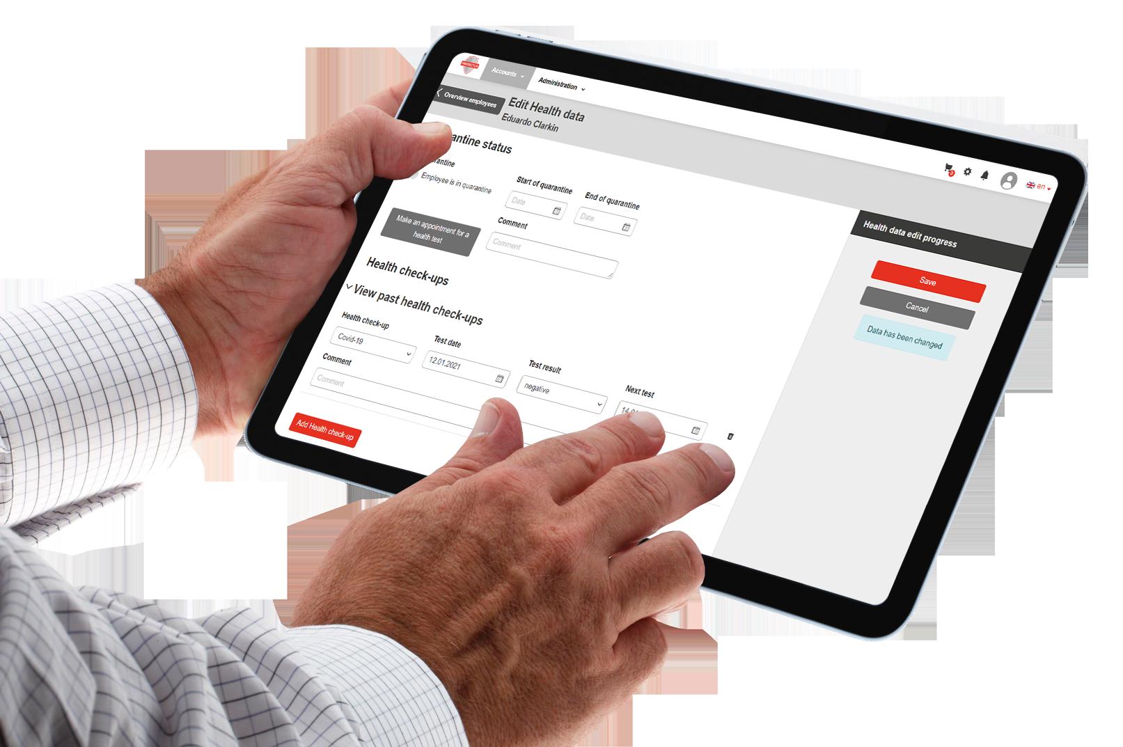 Screenshot PROTECTUS: Anwenderfreundliches Handling, intuitiv und überall nutzbare Software