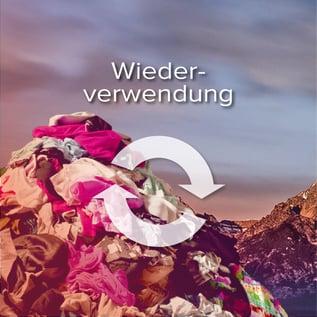 Müllberge vermeiden - Wiederverwendung